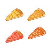 Ícone simples da pizza Fotos de Stock