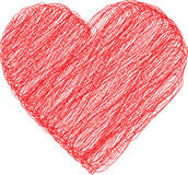 Ícone simples do coração Fotografia de Stock
