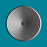 Ícone simples do disco do metal ilustração stock