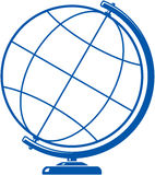Ícone simples do globo Foto de Stock Royalty Free