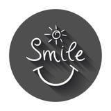 Ícone simples do vetor do sorriso Imagem de Stock Royalty Free