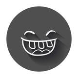 Ícone simples do vetor do sorriso Fotografia de Stock Royalty Free