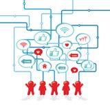Ícone social do conceito da rede dos meios para seu projeto Fotografia de Stock Royalty Free