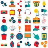 Ícone social 3 dos meios Imagem de Stock