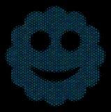 Ícone sorrido da composição da etiqueta dos círculos de intervalo mínimo ilustração royalty free
