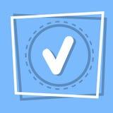 Ícone Tick Web Button de Check Point ilustração stock