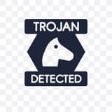 Ícone transparente do Trojan Projeto do símbolo do Trojan do secu do Internet ilustração royalty free