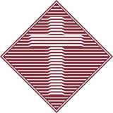 Ícone transversal chanfrado Imagens de Stock