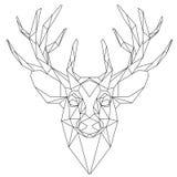 Ícone triangular principal dos cervos Imagem de Stock Royalty Free