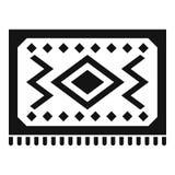 Ícone turco do tapete, estilo simples ilustração royalty free