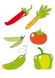 Ícone vegetal Imagens de Stock