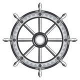 Ícone velho da roda do navio Fotografia de Stock Royalty Free