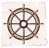 Ícone velho da roda do navio Fotos de Stock