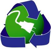 Ícone verde da eletricidade Imagens de Stock
