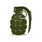 Ícone verde da granada Imagens de Stock