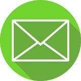 Ícone verde da mensagem ilustração do vetor