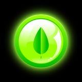 Ícone verde de Eco Imagem de Stock