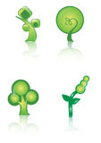 Ícone verde do logotipo ilustração royalty free