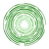 Ícone verde do vetor dos círculos ilustração do vetor