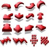 ícone vermelho da seta Fotos de Stock