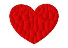 Ícone vermelho do coração do polígono Fotografia de Stock Royalty Free