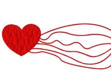 Ícone vermelho do coração do polígono com fundo branco, vetor Imagens de Stock Royalty Free