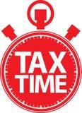 Ícone vermelho do cronômetro do tempo do imposto, vetor Foto de Stock Royalty Free