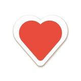 Ícone vermelho do dia de são valentim do coração Fotografia de Stock Royalty Free
