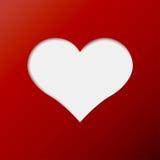 Ícone vermelho do dia de são valentim do coração Imagem de Stock Royalty Free