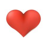 Ícone vermelho do dia de são valentim do coração símbolo do projeto 3d Imagem de Stock