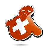 Ícone vermelho triste Foto de Stock Royalty Free