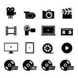 Ícone video ilustração stock