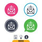 Ícone video do correio Símbolo do quadro video mensagem Fotografia de Stock