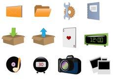 ícone vol15 do vetor 3d Fotos de Stock