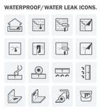 Ícone Waterproofing do vetor ilustração royalty free