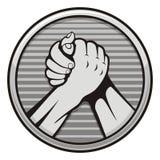 Ícone wrestling de braço Fotos de Stock Royalty Free