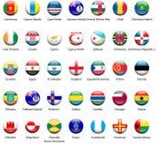 Ícones 01 da bandeira do mundo Fotografia de Stock