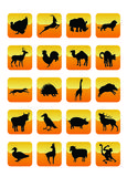 Ícones 01 dos animais ilustração stock