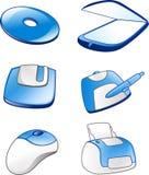Ícones #1 do material informático Imagens de Stock