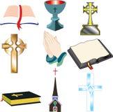 Ícones 2 da igreja Fotografia de Stock Royalty Free
