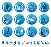 Ícones 2 da música Fotografia de Stock