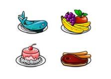 Ícones 2 do alimento Fotografia de Stock