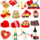 Ícones 2 do amor Imagem de Stock