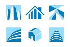 Ícones 2 dos bens imobiliários Imagens de Stock