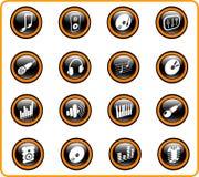 Ícones Fotografia de Stock
