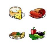 Ícones 3 do alimento Fotos de Stock