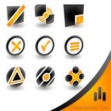 ícones 3D Ilustração do Vetor