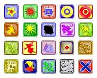 Ícones abstratos ilustração royalty free