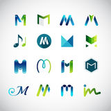 Ícones abstratos baseados na letra M Foto de Stock