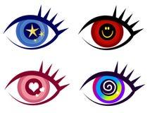 Ícones abstratos da arte de grampo do olho ilustração royalty free
